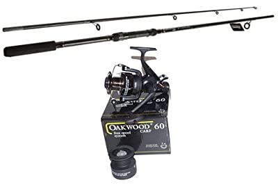 OAKWOOD Carp Stalker Fishing Rod And Oakwood Baitrunner Reel by oakwood