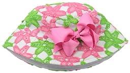Mud Pie Baby-Girls Newborn Daisy Crochet Sun Hat, Black/Pink/White, 0-18 Months