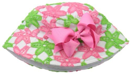 Mud Pie Baby-Girls Newborn Daisy Crochet Sun Hat, Black/Pink/White, 0-18 Months front-1030864
