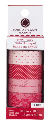 Martha Stewart Crafts Pink And Red Lace Paper Tape