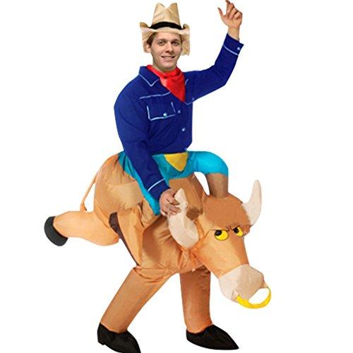 Kibeland Inflatable Bull Rider Costume Halloween costume (Bull Rider Costume)