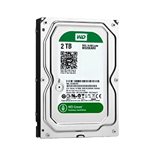 Western Digital 2 TB 3.5-Inch SATA III 64 MB Cache Desktop Hard Drive WD20EARX (Green) (Discontinued by Manufacturer)