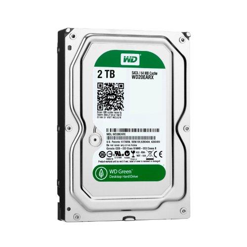 Western Digital WD20EARX Green 2TB interne Festplatte (8,9 cm (3,5 Zoll), 5400 rpm, 64MB Cache, SATA)