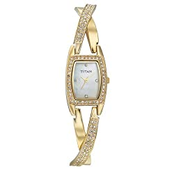 Titan Purple Analog White Dial Womens Watch - ND9851YM01J