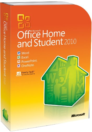 Microsoft Office 2010 Home and Student, 3 Users (PC)