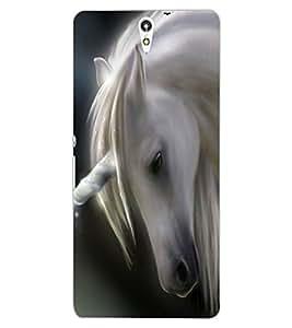ColourCraft Lovely Horse Design Back Case Cover for SONY XPERIA C5 E5553 / E5506