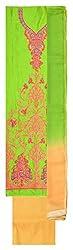 Sree Hamsa Women's Chanderi Unstitched Dress Material (Green)