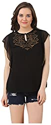 Fem&Her Women's Round Neck Top (PP20, Black, 34)