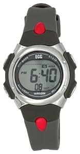 EGG - 4004505 - Montre Enfant - Quartz analogique et digitale - Bracelet gris et rouge