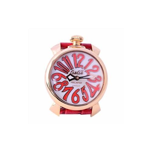 (ガガミラノ)GAGA MILANO ガガミラノ腕時計 マヌアーレ 40mm レディース 18K PVD 5021.5 男女兼用腕時計 ホワイトシェル 腕時計 プラカット オロ [並行輸入品]