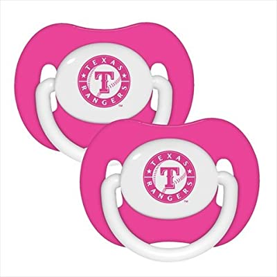 MLB Texas Rangers Pacifiers (Pack of 2), Pink