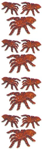 Jillson Roberts Prismatic Stickers, Tarantulas, 12-Sheet Count (S7182)