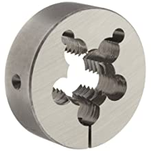 "Union Butterfield 2010(UNC) Carbon Steel Round Threading Die, Uncoated (Bright) Finish, 3"" OD, 1-1/8""-7 Thread Size"