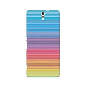 Ebby Color Linear Hues Premium Printed Case For Sony Xperia C5