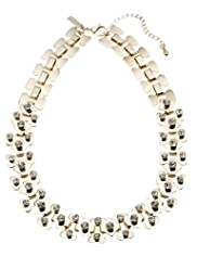 Autograph Section Link Diamanté Collar Necklace