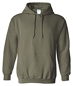 Gildan Adult Heavy Blend� Hooded Sweatshirt (Military Green) (Medium)