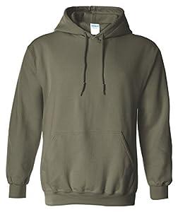 Gildan Adult Heavy Blend� Hooded Sweatshirt (Military Green) (Medium)