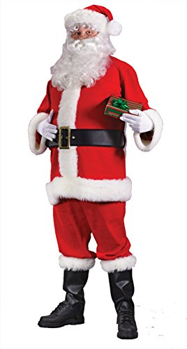 Funworld Mens Economy Red Santa Claus Christmas Holiday Fancy Costume
