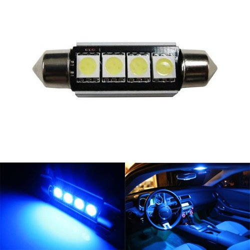 iJDMTOY 4-SMD Error Free 6411 578 LED Bulb For Car Interior Dome Light or Trunk Area Light, Ultra Blue (Blue Car Lights Interior compare prices)