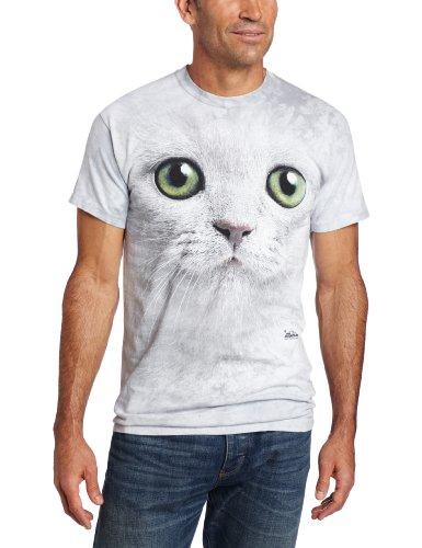 The Mountain Men'S Green Eyes Face T-Shirt, Light Gray, Xx-Large
