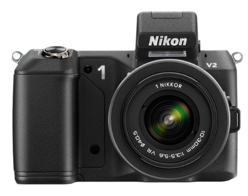 Nikon 1 V2 Compact System Camera with 10-30mm Lens Kit - Black (14.2MP) 3 inch LCD