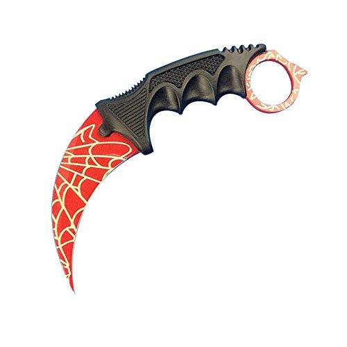 KUKEN CS:GO Counter Strike Hawkbill Scorpion Tactical Neck Spider Knife (Red Spider)