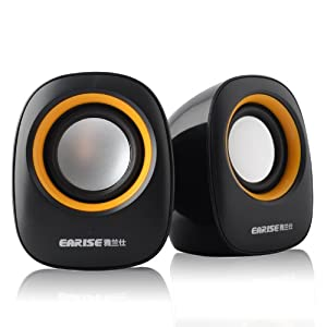 Portable Mini Computer Speakers Earise AL-101, Powered by USB,for Laptops, Mac, Notebooks, Ultrabooks, Desktops and More, Gemini Doctor by Gemini Doctor