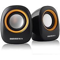 Earise AL-101 3.5mm Mini Computer Speakers (Black)