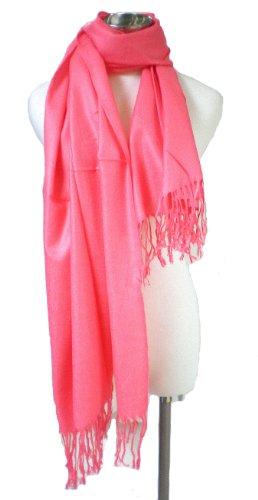 Premium Pashmina Shawl Wrap Scarf - Pink