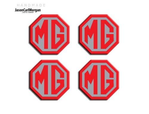 MGF LE500 Noir Argent & Jante en alliage Bouchon Badges (OCT45mm)