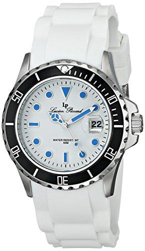 Lucien Piccard LP-12883-02-BLA - Reloj para mujeres, correa de goma color blanco