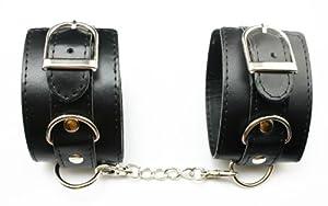 chuzhao wu black pu leather handcuffs bedroom