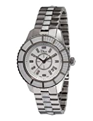 Christian Dior Women's CD113112M002 Christal Diamond White Dial Watch