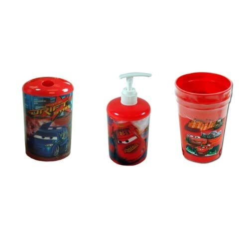 Amazon.com - Disney Cars 4-Piece Bathroom Accessories Set - Toothbrush