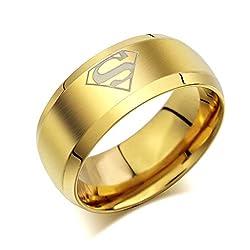 Sorellaz Superman Titanium Ring for Mens (Size 8)