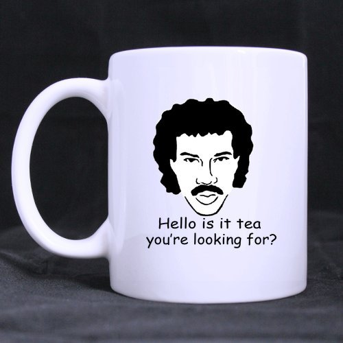 Funny High Quality Funny Hello Is It Tea You'Re Looking For Theme Coffee Mug Or Tea Cup,Ceramic Material Mugs,White 11Oz
