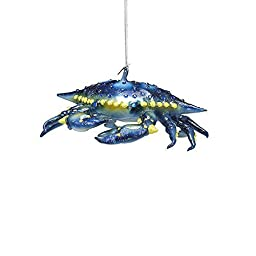 Kurt Adler Noble Gems Glass Blue Crab Ornament, 5-Inch by Kurt Adler