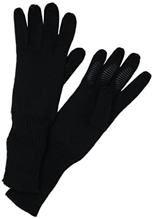 U|R  Women's Long Cuff Knit Glove, Black, One Size