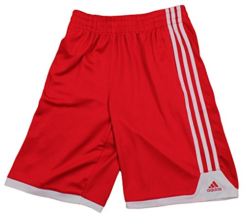Adidas Youth Boy'S Red Mesh Shorts (Medium (10-12), Red) front-48120