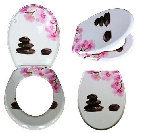 wc sitz mit absenkautomatik orchidee toilettendeckel. Black Bedroom Furniture Sets. Home Design Ideas