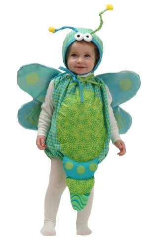 Mullins Square Dragonfly Baby Costume, Aqua Check - 6-18 Months