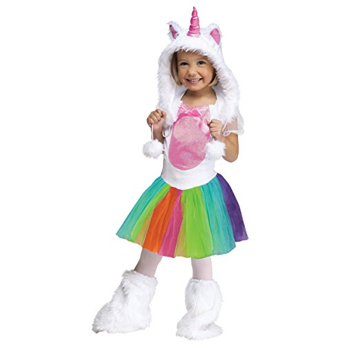 Fun World Costumes Baby Girl's Unicorn Toddler Costume - VIVID COLOR