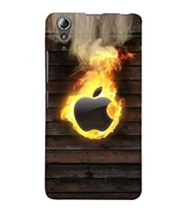 Fuson Premium Back Case Cover Burning Apple With Multi Background Degined For Lenovo A6000