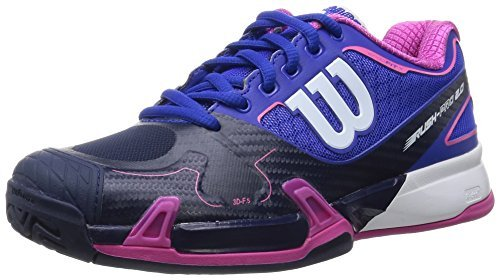 Wilson Rush Pro 2.0 Women's All Court Tennis Shoe-Blue Iris/Navy/Pink 8.5