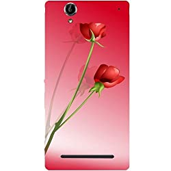 Casotec Red Roses Design Hard Back Case Cover for Sony Xperia T2 Ultra
