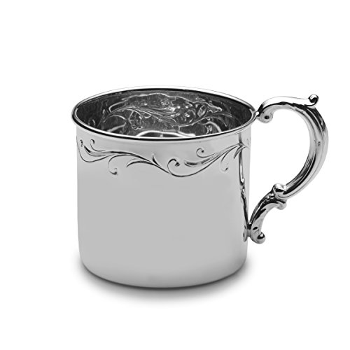 Empire Floral Sterling Baby Cup - 1