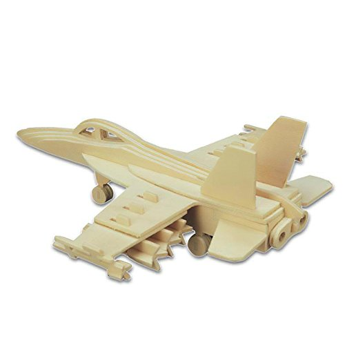 BUYBEST 3D Jigsaw Woodcraft Kit Wooden Puzzle - F-18 Hornet - 1