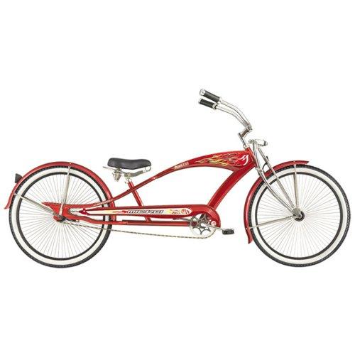 "26/""  Beach Cruiser Streatch Bike with Micargi Falcon GTS Black //w red rims"