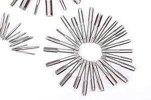 Happybuy 110Pcs Tap & Die Set Tungsten Steel Titanium Tap & Die Metric Tool Tap & Die Combination Set For Cutting External & Internal Threads (Color: 110 pcs)