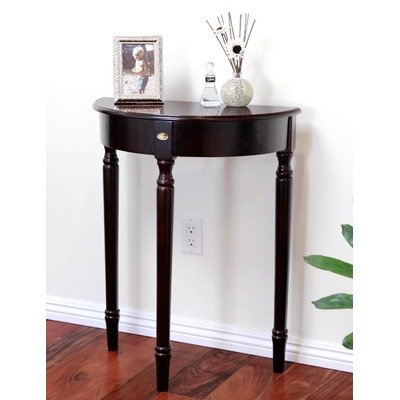 Buy low price brown finish storage entry way console table hall table vf 950059 - Cheap entrance table ...